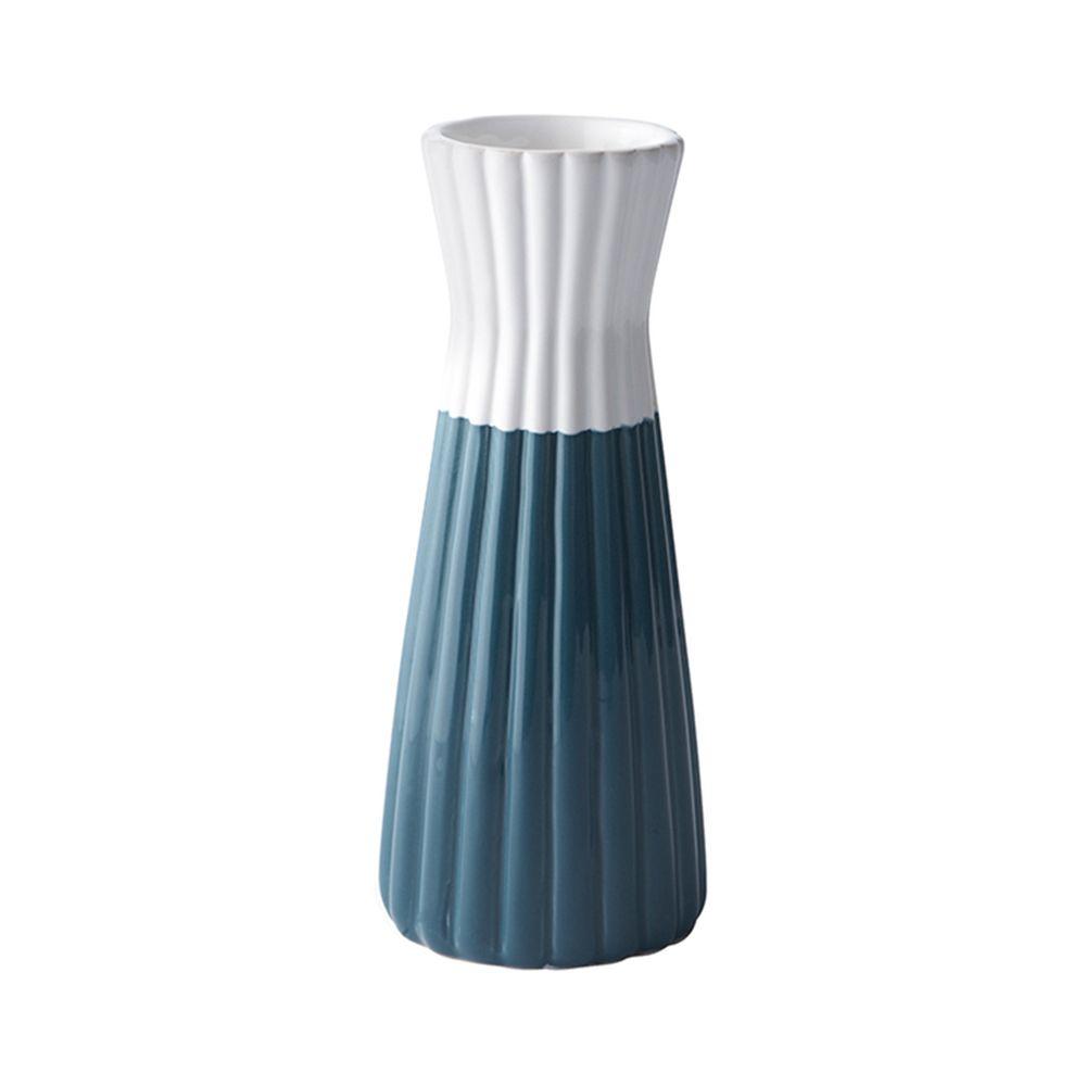 650000026 - Chân nến gốm sứ xanh trắng H19.5 BO42253