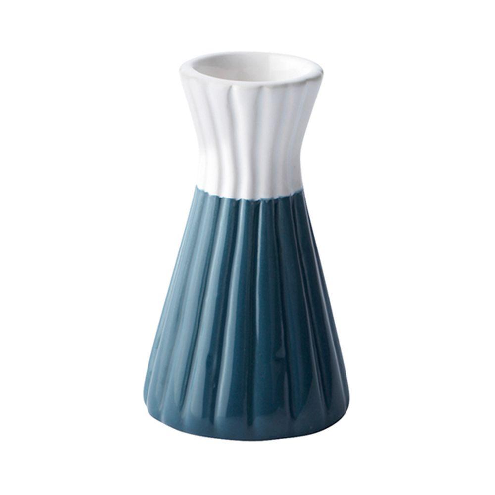 650000027 - Chân nến gốm sứ xanh trắng H10.5 BO42254