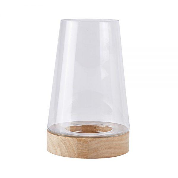 650000034 600x600 - Lọ thuỷ tinh kính gỗ H21cm BO152221