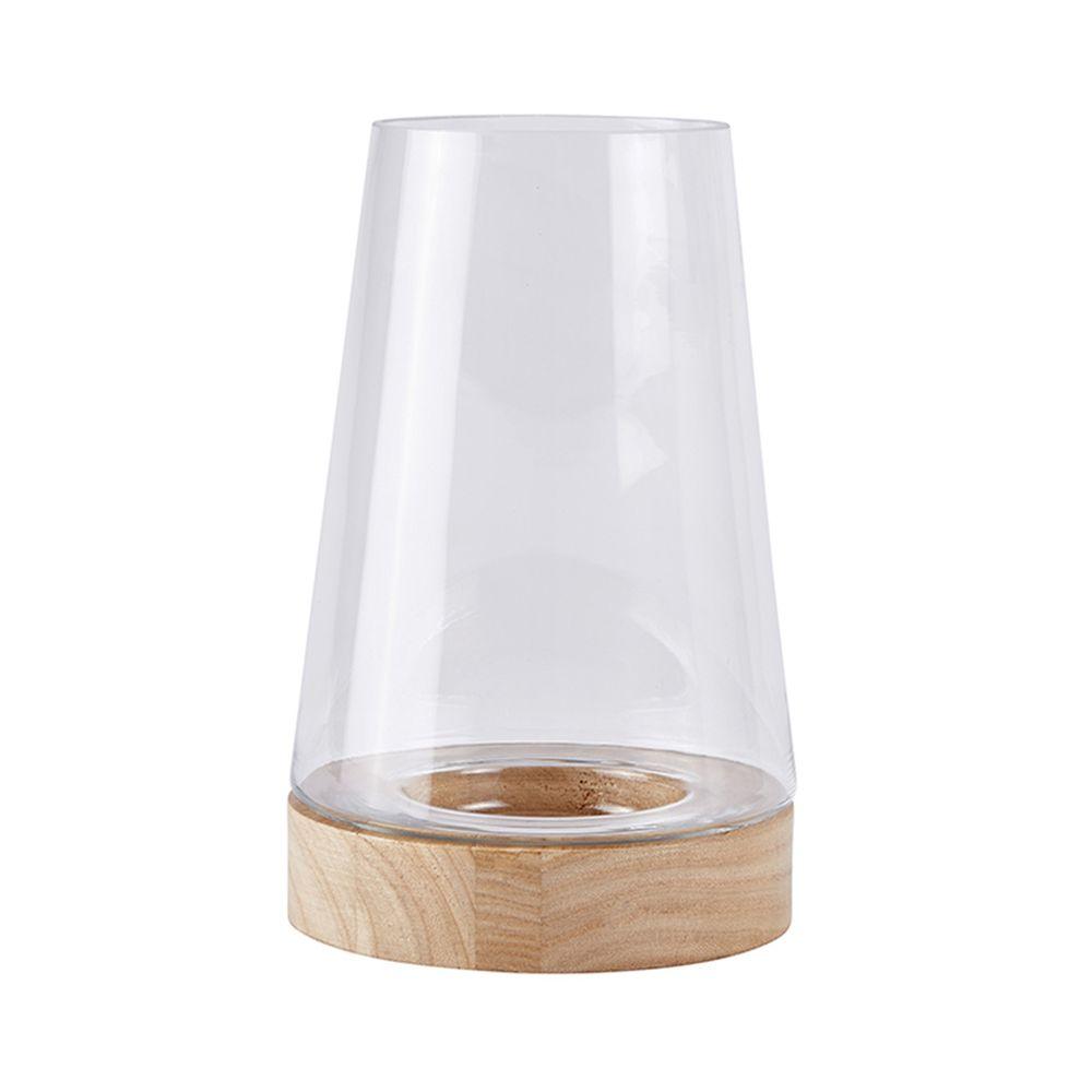 650000034 - Lọ thuỷ tinh kính gỗ H21cm BO152221
