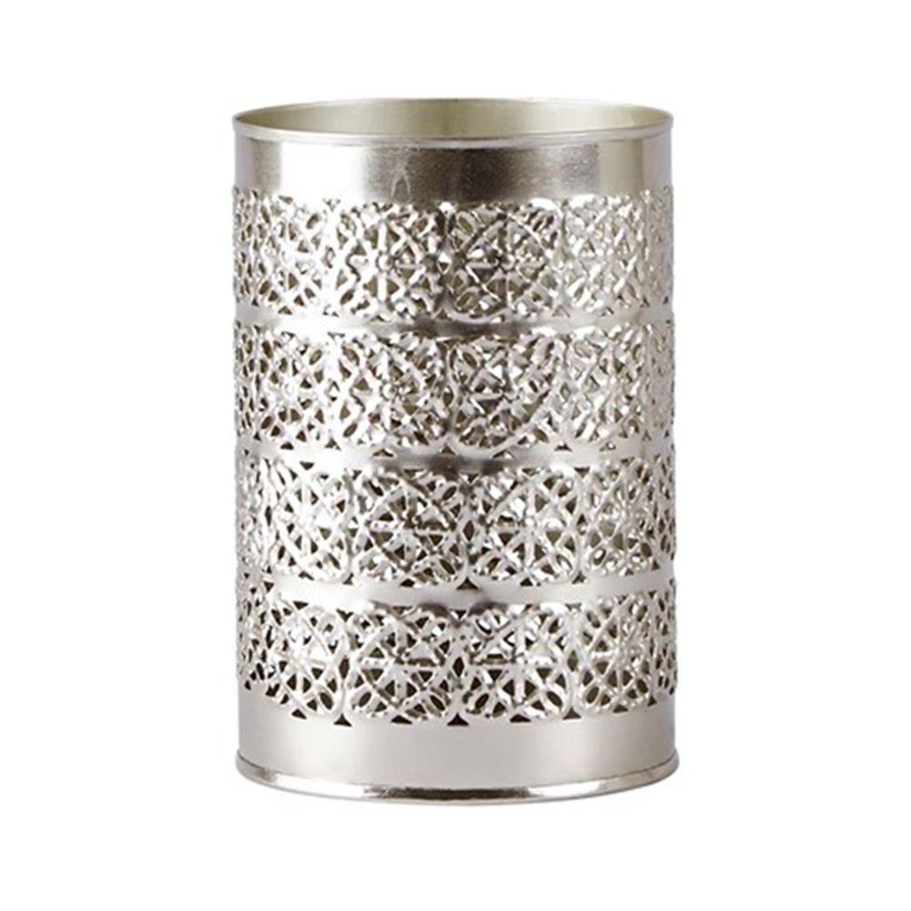 650000331 - Chân nến màu bạc D8,5xH10,5cm BO153041