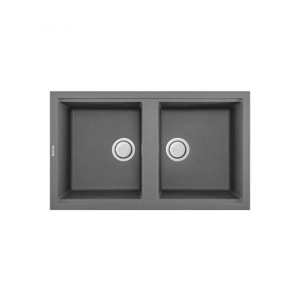TITANIUM G 45073 600x600 - Chậu rửa đá Granite TITANIUM - Đôi