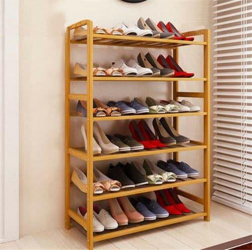 mau tu giay go tu nhien 8 - 5 Mẫu Tủ Giày Gỗ Tự Nhiên Làm Đẹp Cho Không Gian Nhà Ở