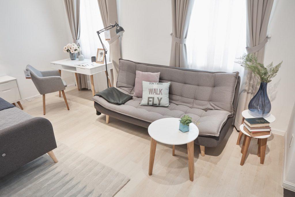 Sofa Bed Gozzano min 1024x683 - Mẹo Trang Trí Phòng Khách Nhỏ Đẹp Đơn Giản Và Mang Cá Tính Riêng