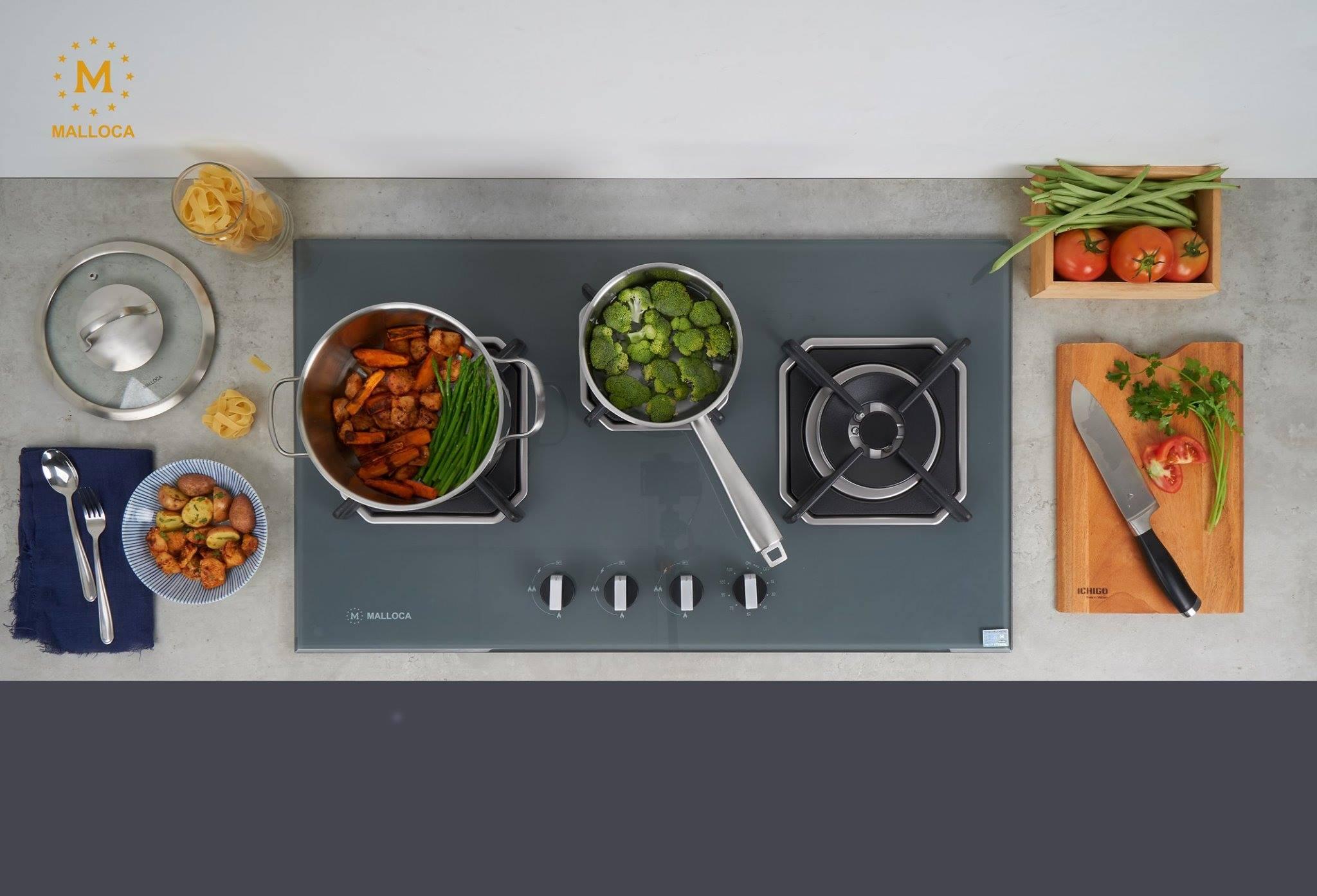 bep ga am 3 - Nên Dùng Bếp Ga Âm Hay Bếp Điện Từ Cho An Toàn