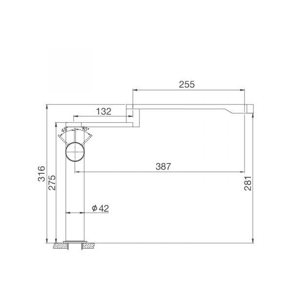 K060 S 600x600 - Vòi rửa chén K060-S