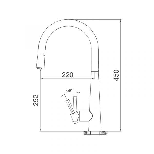 K095 S  600x600 - Vòi rửa chén K095-S