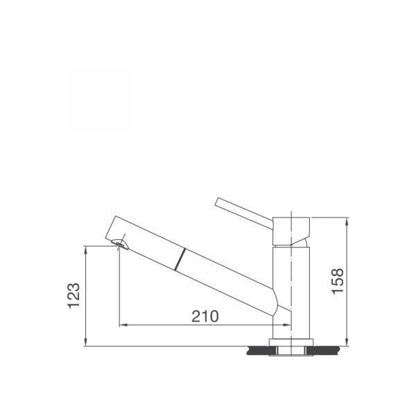 K110 S  600x600 - Vòi rửa chén K110-S