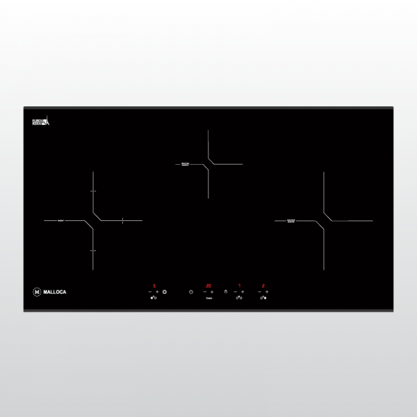 MH 03IR N 600x600 - Bếp kính âm 2 từ và 1 điện MH-03IR N