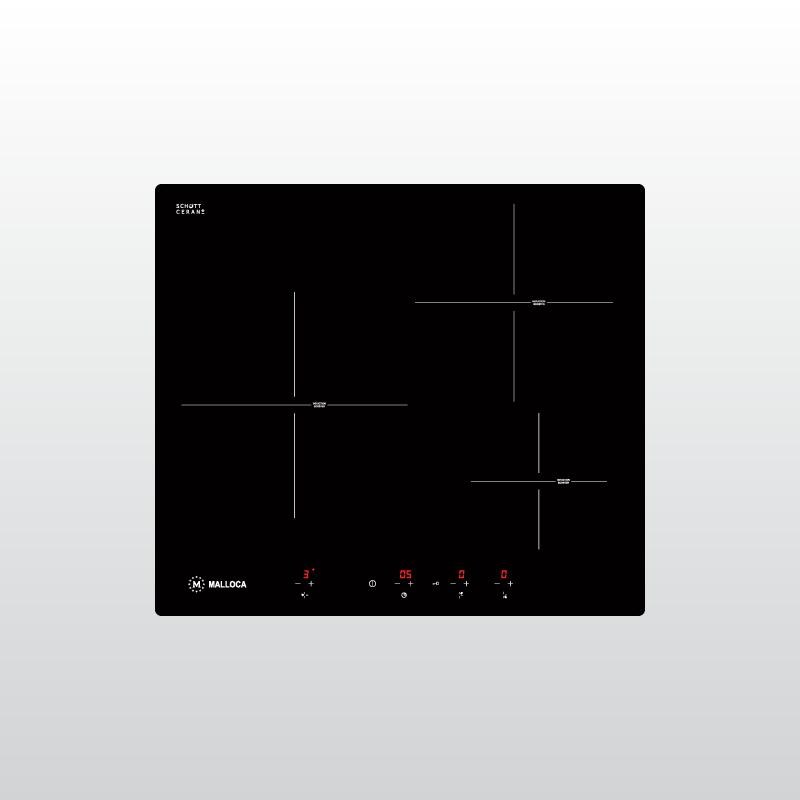 MI 593 B - Bếp kính âm 3 từ MI 593 BN