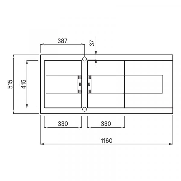 SMART K 500 1 600x600 - Chậu đá SMART K-500