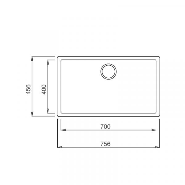 ZEN K 13040 1 600x600 - Chậu đá ZEN K-13040